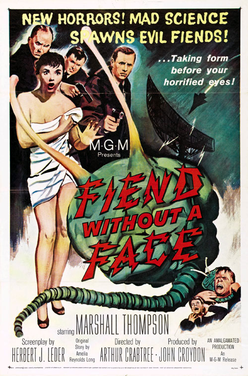 Affiche américaine de 'Fiend Without a Face'