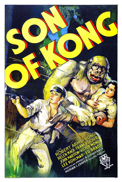 Us poster from the movie The Son of Kong