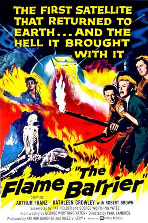 Us poster from the movie The Flame Barrier