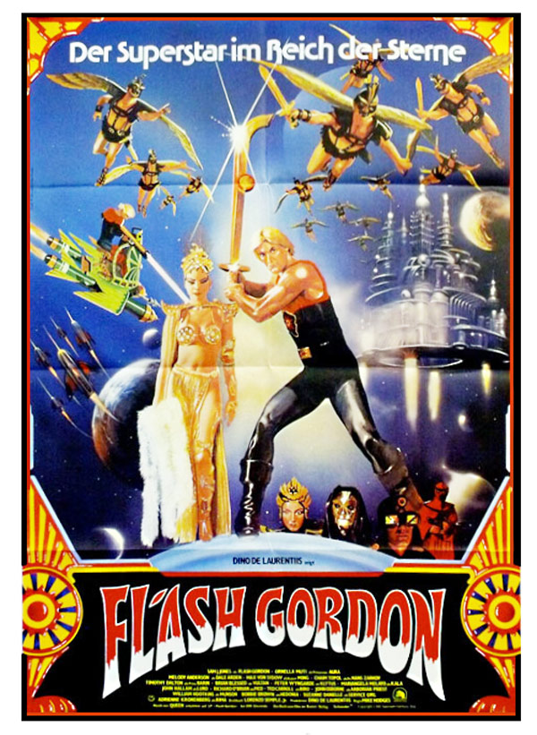 Affiche allemande de 'Flash Gordon'