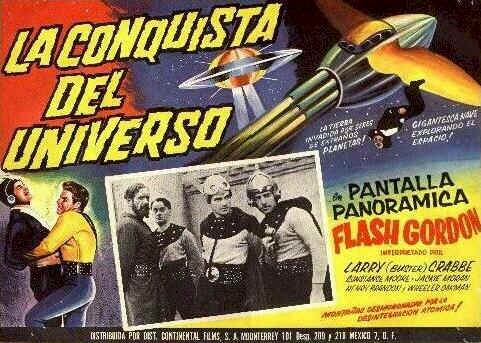 Affiche espagnole de 'Flash Gordon Conquiert l'Univers'