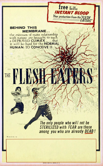 Affiche américaine de 'The Flesh Eaters'