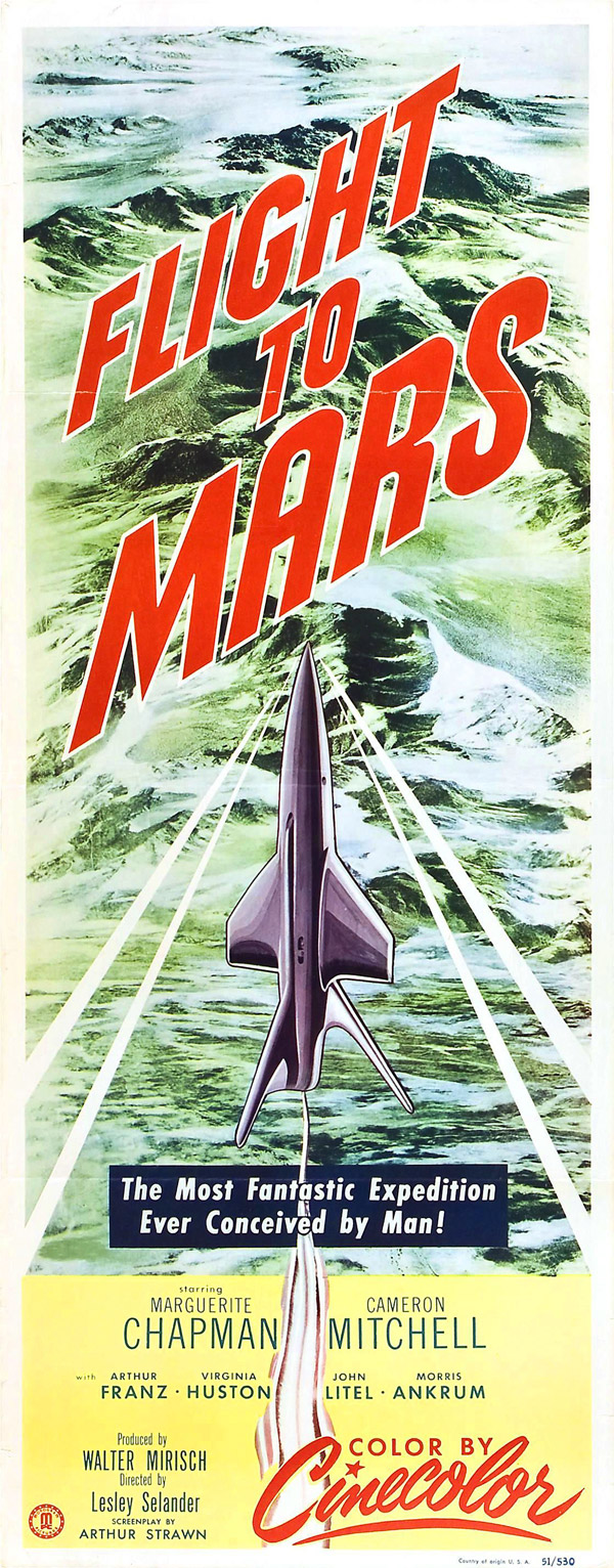 Affiche américaine de 'Flight to Mars'