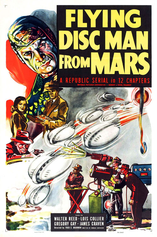 Us poster from the series Flying Disc Man from Mars