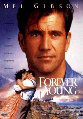 French poster from the movie Forever Young