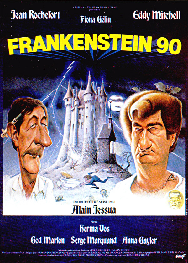 French poster from the movie Frankenstein 90