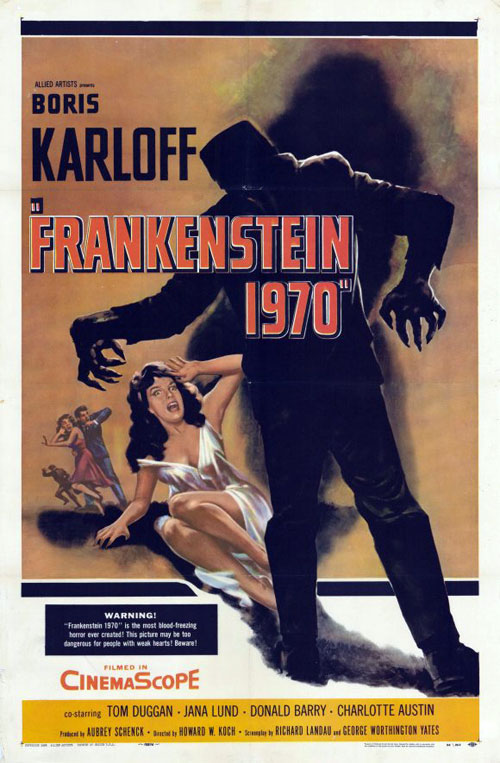 Us poster from the movie Frankenstein - 1970