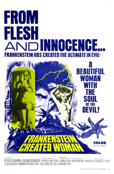 Us poster from the movie Frankenstein Created Woman