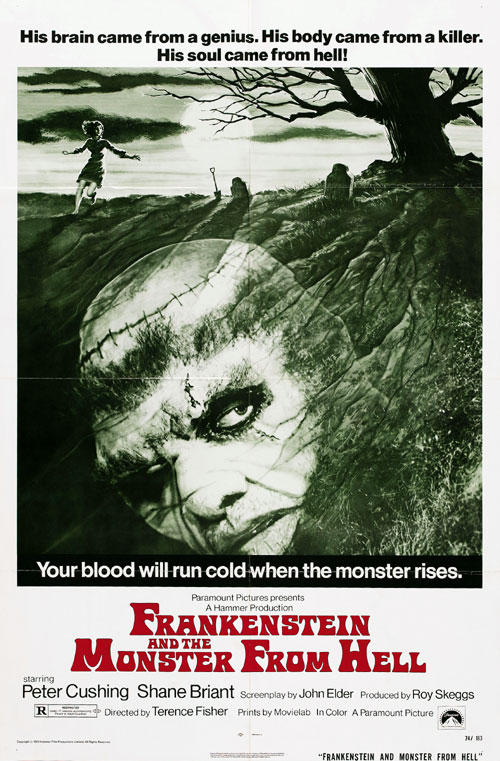 Us poster from the movie Frankenstein and the Monster from Hell