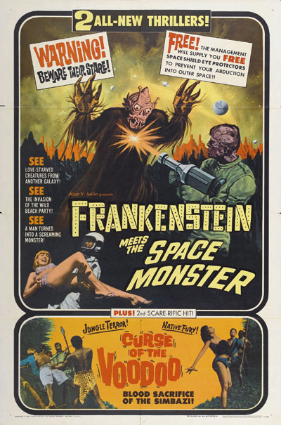 Us poster from the movie Frankenstein Meets the Spacemonster