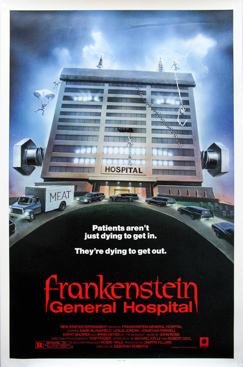 Affiche américaine de 'Frankenstein General Hospital'