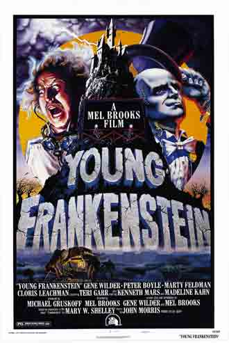 Affiche américaine de 'Frankenstein junior'