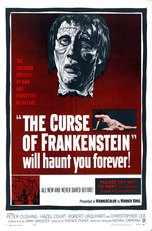Us poster from the movie The Curse of Frankenstein