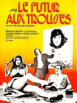 French poster from the movie Le futur aux trousses