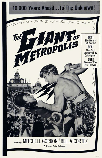 Us poster from the movie The Giant of Metropolis (Il gigante di Metropolis)