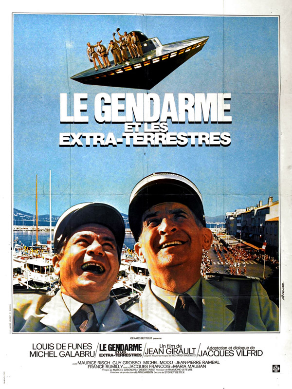 French poster from the movie Le Gendarme and the Creatures from Outer Space (Le gendarme et les extra-terrestres)