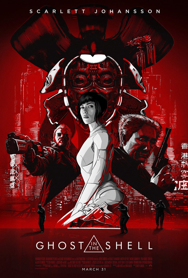 Affiche américaine de 'Ghost in the Shell'