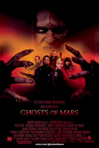 Affiche américaine de 'Ghosts of Mars'