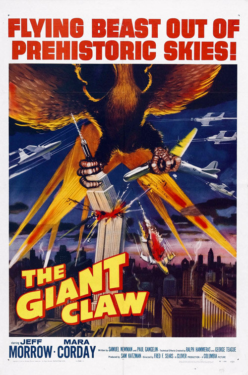 Us poster from the movie The Giant Claw
