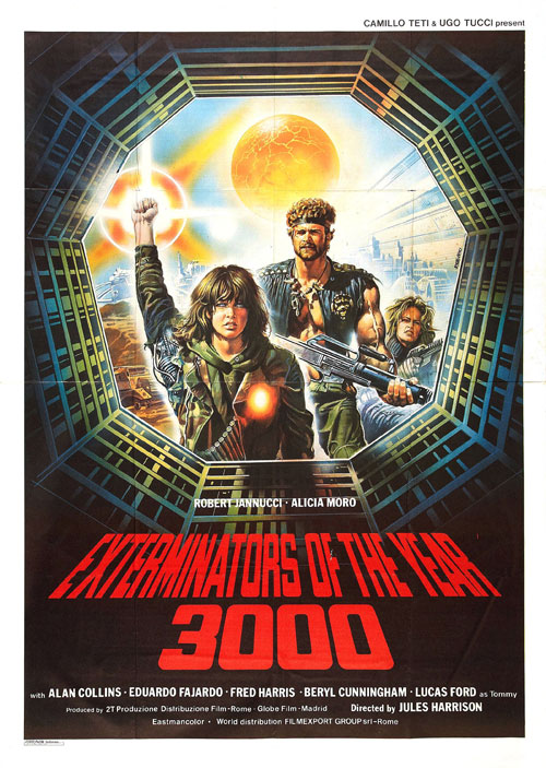 Us poster from the movie Exterminators of the Year 3000 (Gli sterminatori dell'anno 3000)