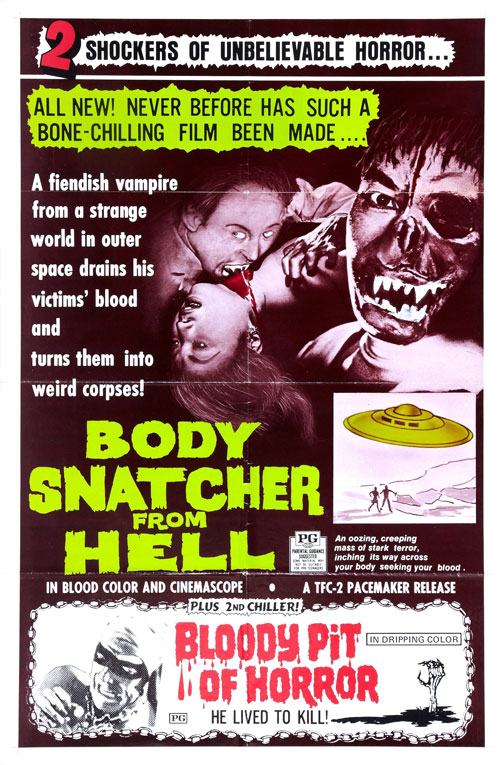 Us poster from the movie Goke, Body Snatcher from Hell (Kyuketsuki Gokemidoro)