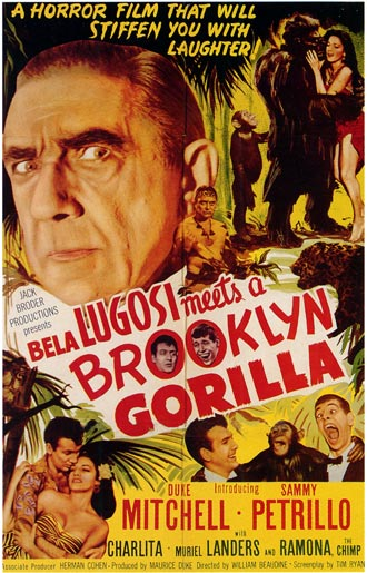 Us poster from the movie Bela Lugosi Meets a Brooklyn Gorilla