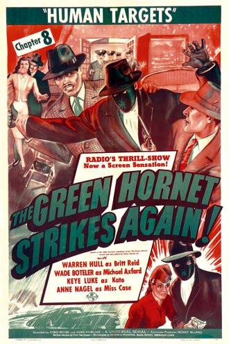 Affiche américaine de 'The Green Hornet Strikes Again!'