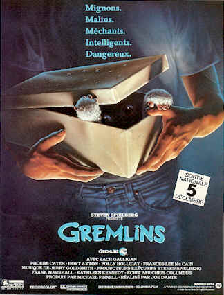 French poster from the movie Gremlins