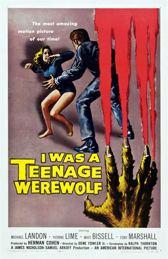 Us poster from the movie I Was a Teenage Werewolf