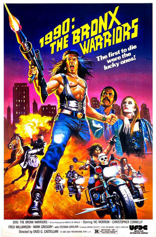 Us poster from the movie 1990: The Bronx Warriors (1990: I guerrieri del Bronx)