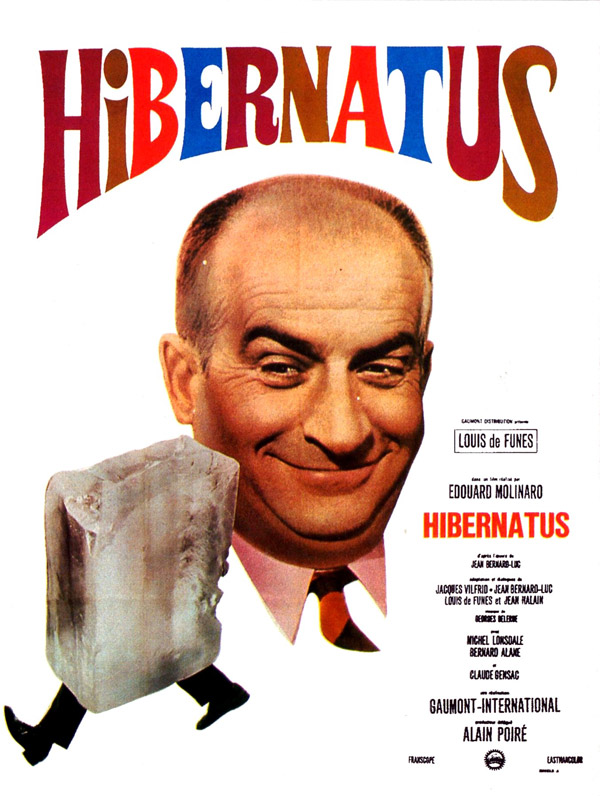 French poster from the movie Hibernatus