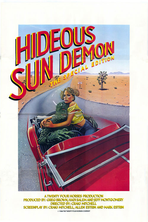 Affiche américaine de 'The Hideous Sun Demon'