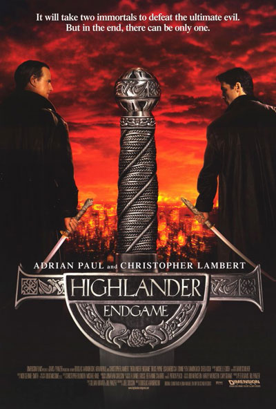 Us poster from the movie Highlander: Endgame