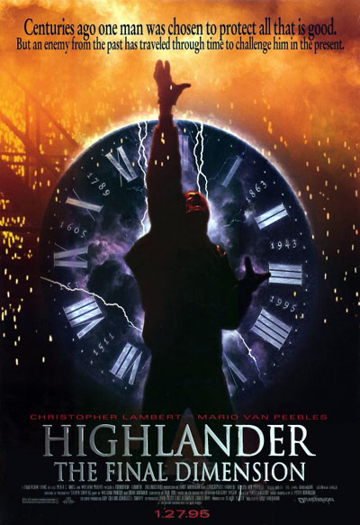Us poster from the movie Highlander III: The Sorcerer