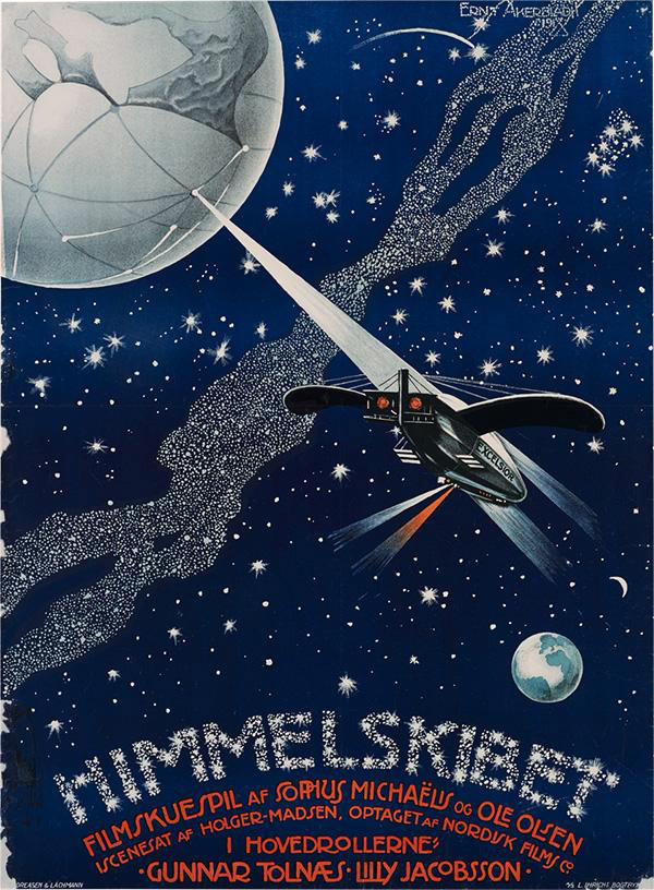 Danish poster from the movie Himmelskibet
