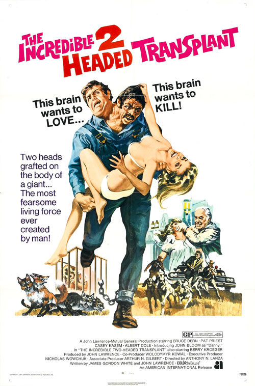 Us poster from the movie The Incredible 2-Headed Transplant