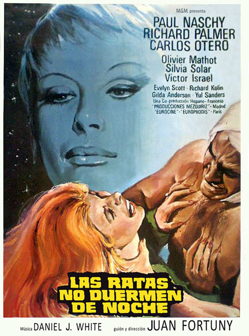 Spanish poster from the movie Crimson, the Color of Blood (Las ratas no duermen de noche)