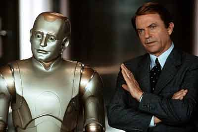 Richard Martin finds some particularities in his robot - Bicentennial Man
