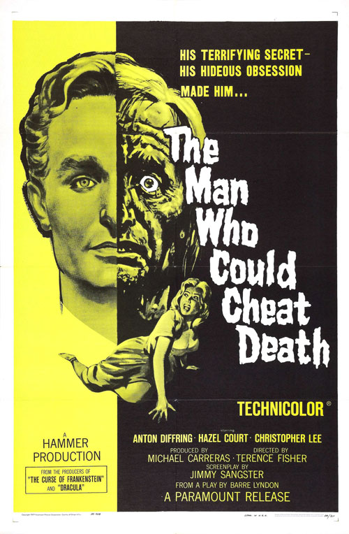 Unknown poster from the movie The Man Who Could Cheat Death