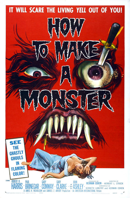 Affiche américaine de 'How to Make a Monster '