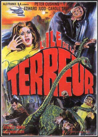 French poster from the movie Island of Terror