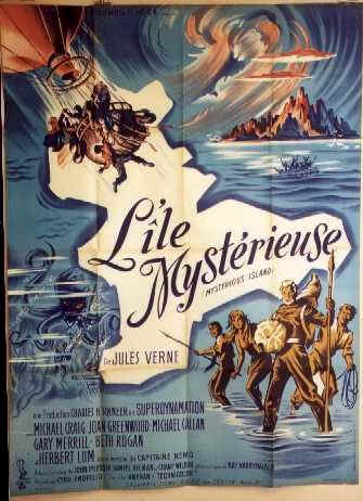 French poster from the movie Mysterious Island
