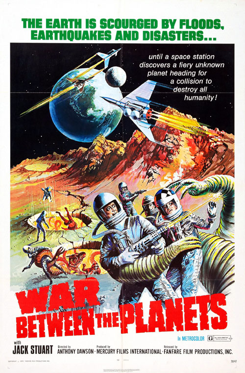 Us poster from the movie War Between the Planets (Il pianeta errante)