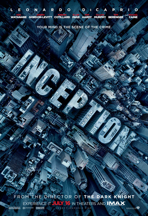 Affiche américaine de 'Inception'