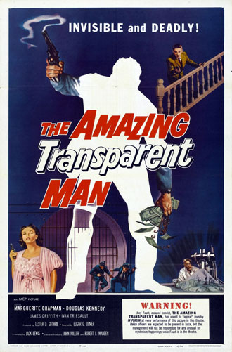 Unknown poster from the movie The Amazing Transparent Man