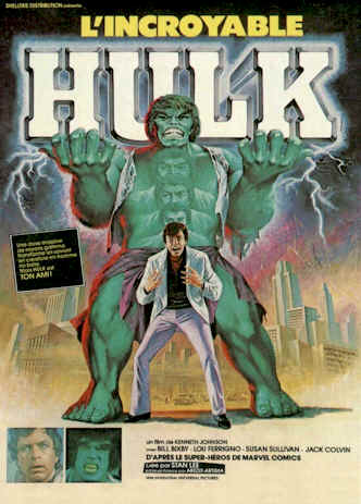 French poster from the TV movie The Incredible Hulk