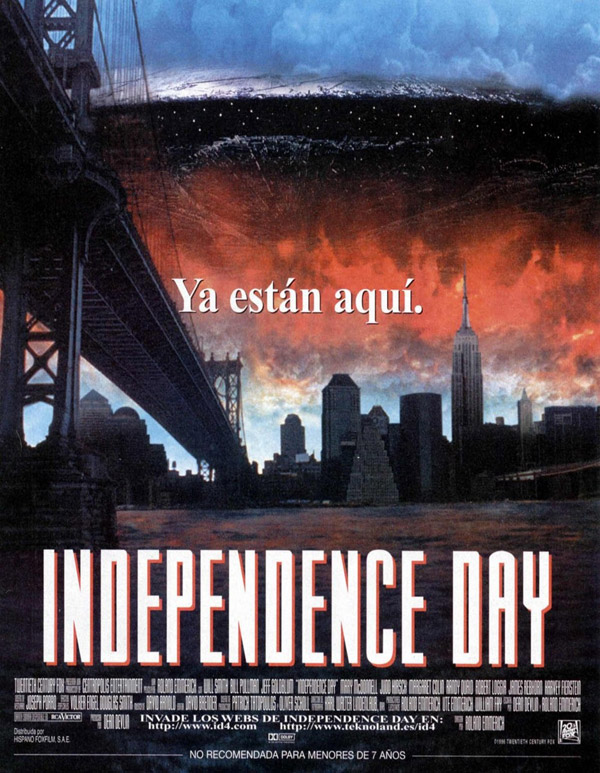 Affiche espagnole de 'Independence Day'
