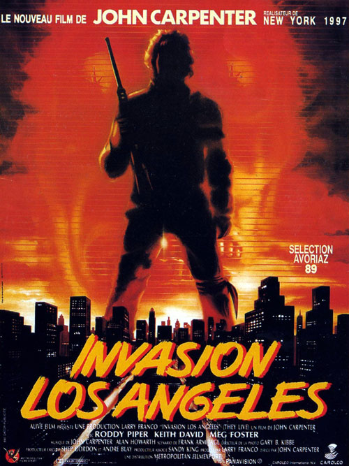 Affiche française de 'Invasion Los Angeles'