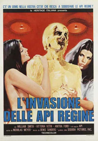 Affiche italienne de 'Invasion of the Bee Girls'