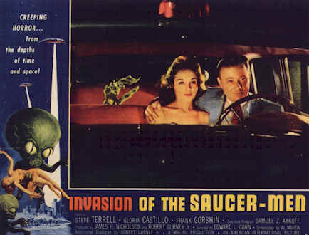 Affiche américaine de 'Invasion of the Saucer Men'